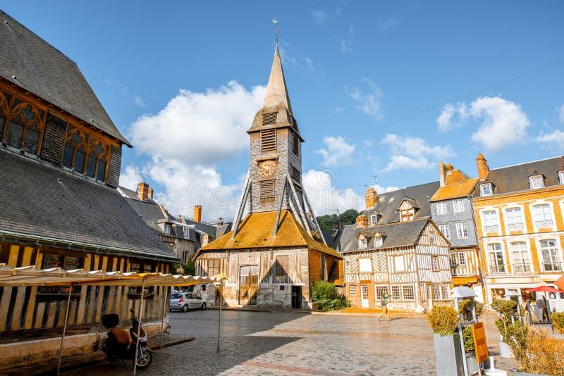 Παλαιά εκκλησία σε Honfleur, Γαλλία στοκ εικόνα