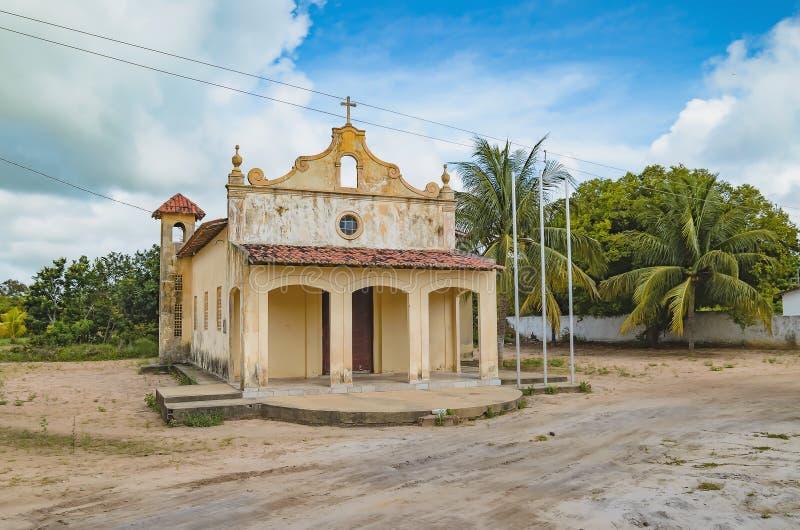 Παλαιά εκκλησία σε Sitio Tambaba, Conde Βραζιλία στοκ φωτογραφία με δικαίωμα ελεύθερης χρήσης