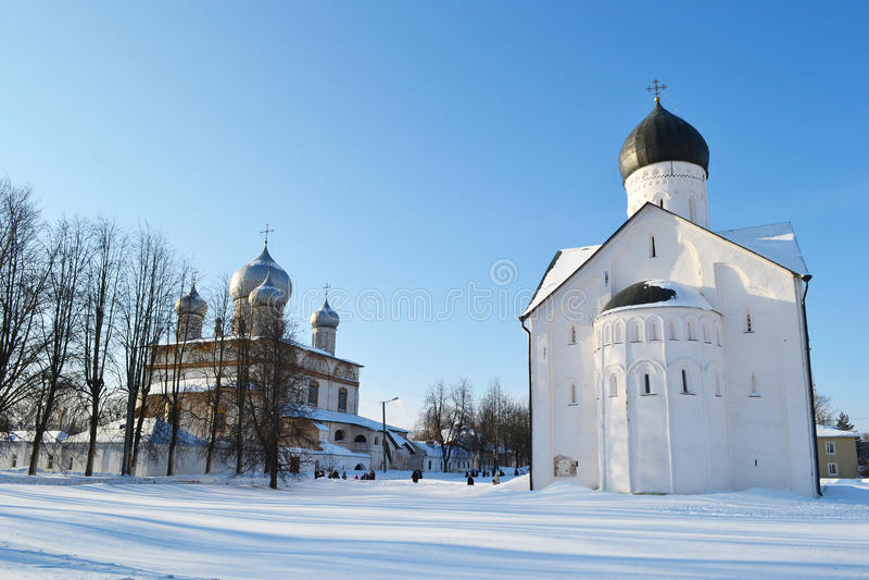 Παλαιά εκκλησία σε Veliky Novgorod. στοκ εικόνες με δικαίωμα ελεύθερης χρήσης