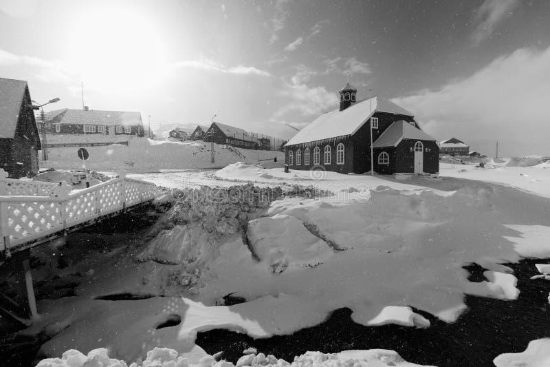 Παλαιά εκκλησία στο qaqortoq στοκ φωτογραφίες με δικαίωμα ελεύθερης χρήσης