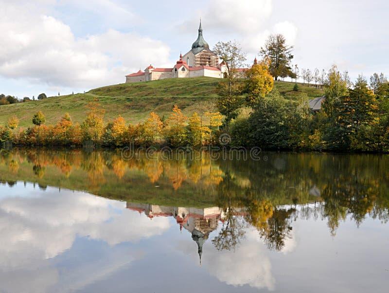 Παλαιά εκκλησία, Zelena hora, πόλη Zdar and Sazavou, Τσεχική δημοκρατία, Ευρώπη στοκ φωτογραφίες