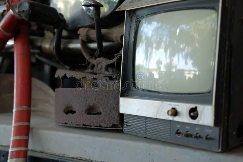 παλαιά εκλεκτής ποιότητας αναδρομική παλαιά τηλεόραση TV στοκ εικόνα με δικαίωμα ελεύθερης χρήσης