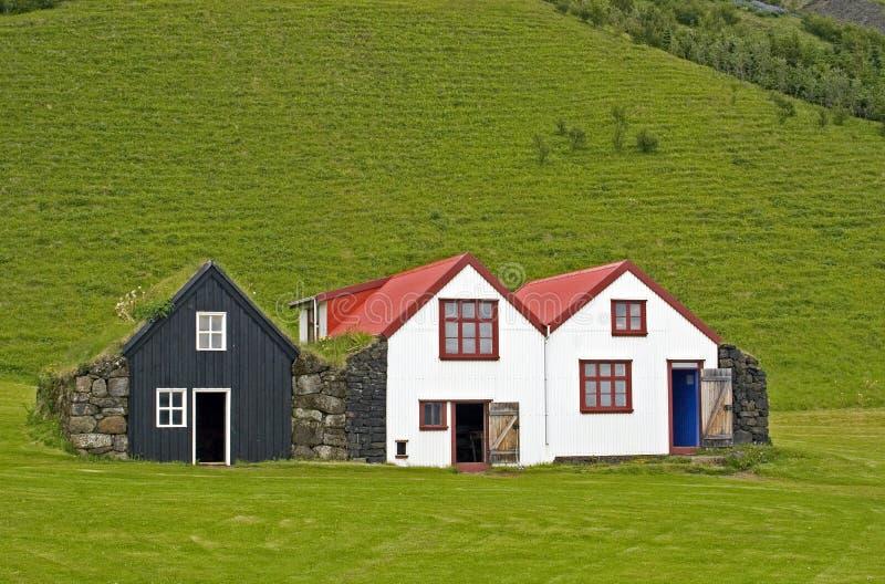 Παλαιά ισλανδικά σπίτια στοκ φωτογραφία με δικαίωμα ελεύθερης χρήσης
