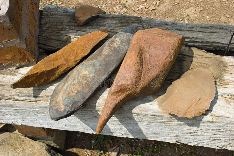 Παλαιά, ιστορικά εργαλεία πετρών στη Νότια Αφρική στοκ εικόνα με δικαίωμα ελεύθερης χρήσης