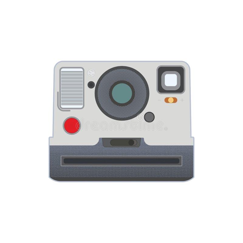 Παλαιά κάμερα φωτογραφιών με την κωμική επίδραση σημείων διανυσματική απεικόνιση