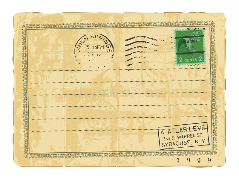 παλαιά κάρτα διανυσματική απεικόνιση