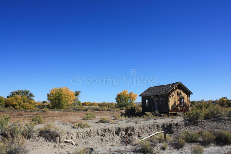 παλαιά καλύβα τοπίων στοκ φωτογραφίες