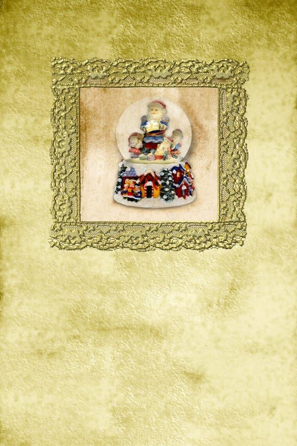 παλαιά κατακόρυφος santa Χρι&si διανυσματική απεικόνιση
