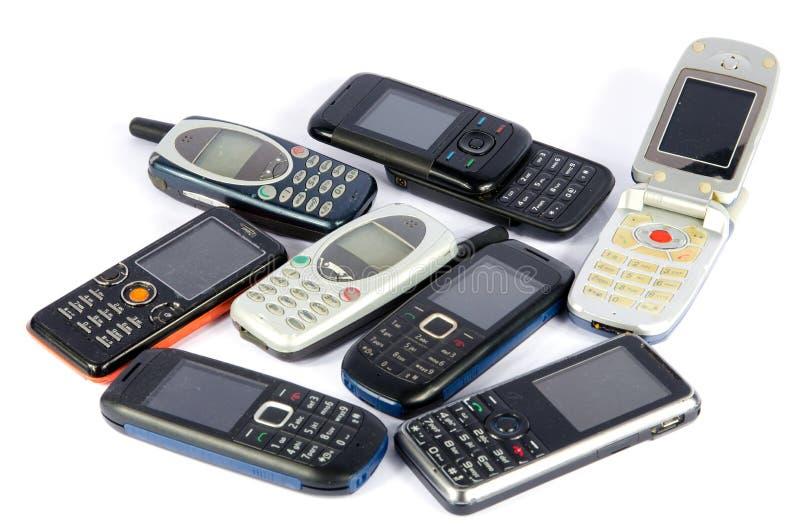 Παλαιά κινητά τηλέφωνα στοκ φωτογραφίες