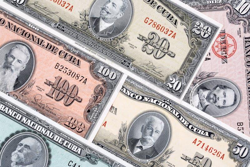 Παλαιά κουβανικά χρήματα ένα επιχειρησιακό υπόβαθρο στοκ φωτογραφία