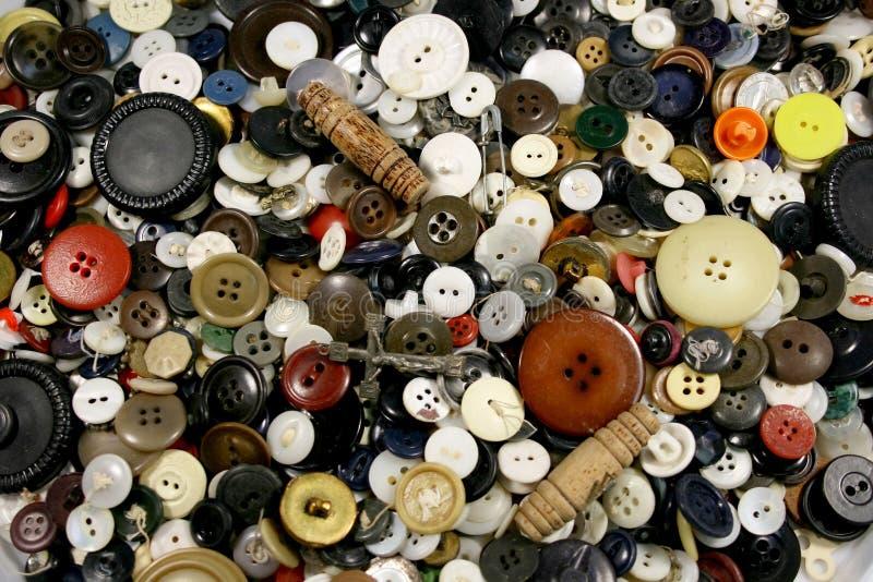 παλαιά κουμπιά ανασκόπηση& στοκ φωτογραφία με δικαίωμα ελεύθερης χρήσης