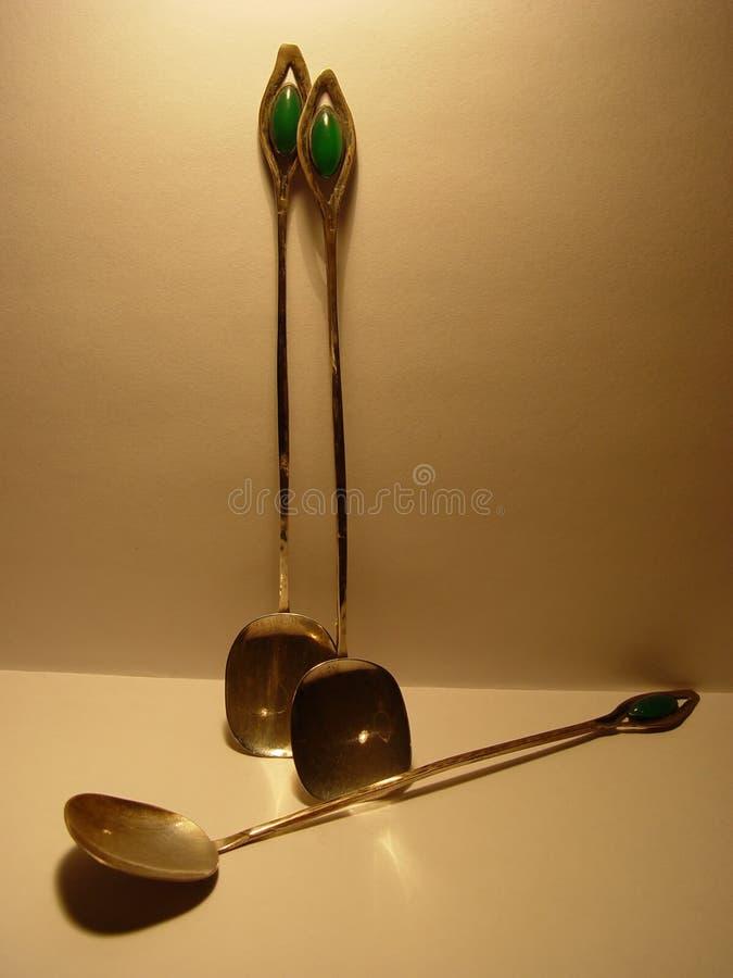 παλαιά κουτάλια στοκ φωτογραφία με δικαίωμα ελεύθερης χρήσης