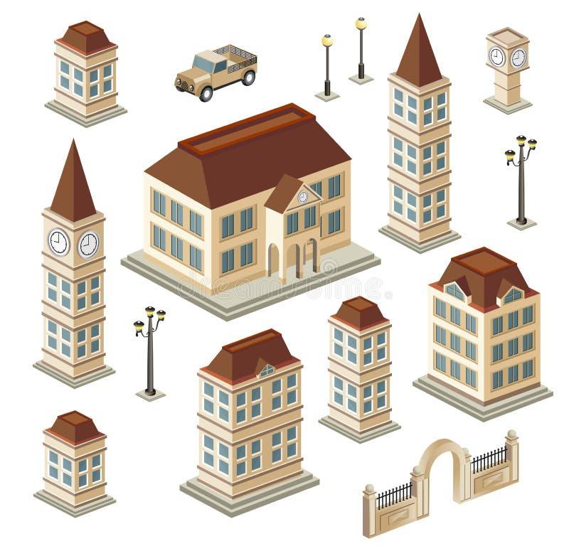παλαιά κτήρια απεικόνιση αποθεμάτων