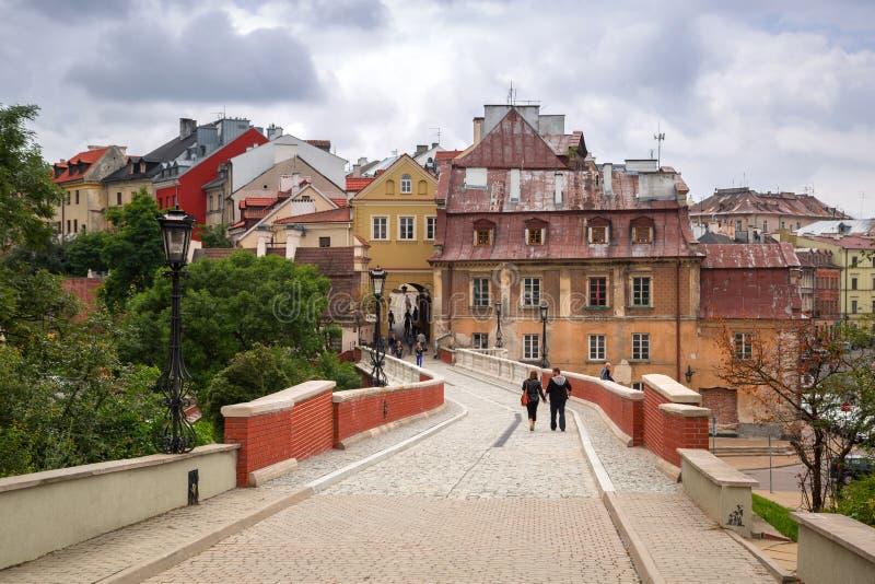 Παλαιά κωμόπολη στο κέντρο πόλεων του Lublin στοκ φωτογραφία με δικαίωμα ελεύθερης χρήσης