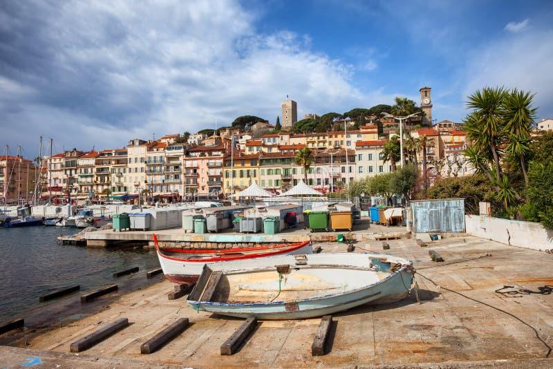 Παλαιά κωμόπολη της πόλης των Καννών στη Γαλλία στοκ εικόνες