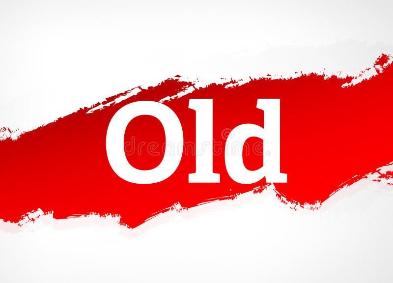 Παλαιά κόκκινη απεικόνιση υποβάθρου βουρτσών αφηρημένη απεικόνιση αποθεμάτων