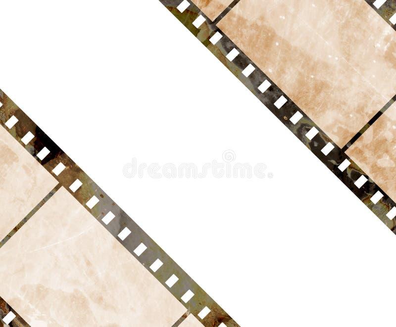 Παλαιά λουρίδα ταινιών διανυσματική απεικόνιση