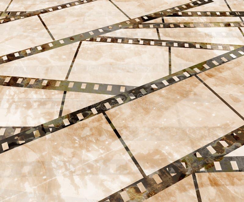 Παλαιά λουρίδα ταινιών απεικόνιση αποθεμάτων