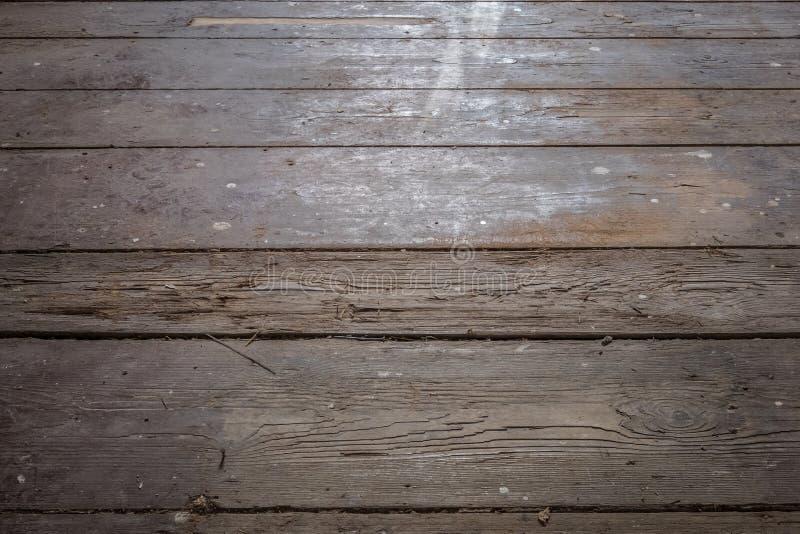 Παλαιά ξύλινα πάτωμα/floorboards στο παλαιό δωμάτιο διαμερισμάτων - κατασκεύασμα στοκ εικόνες