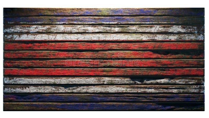 Παλαιά ξύλινη αποκάλυψη υποβάθρου σύστασης απεικόνιση αποθεμάτων
