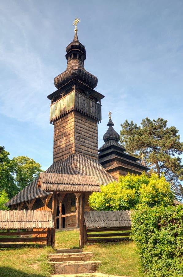 Παλαιά ξύλινη εκκλησία, Uzhgorod, Ουκρανία στοκ εικόνα
