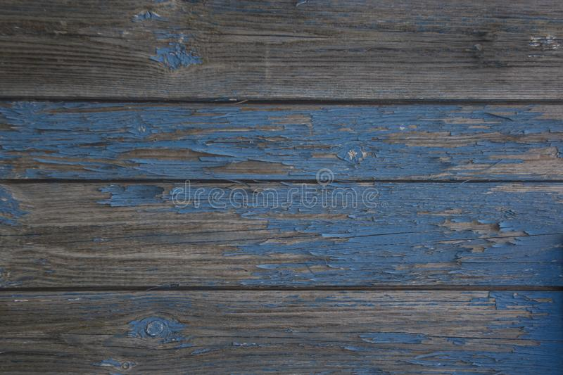 Παλαιά ξύλινη επιφάνεια με το σκούρο μπλε χρώμα 2 χρωμάτων στοκ εικόνες