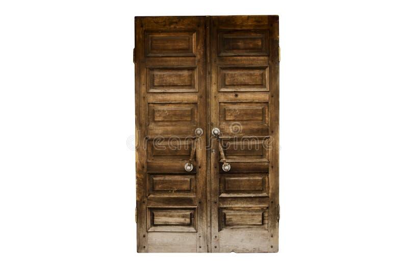 Παλαιά ξύλινη πόρτα που απομονώνεται στοκ φωτογραφία με δικαίωμα ελεύθερης χρήσης