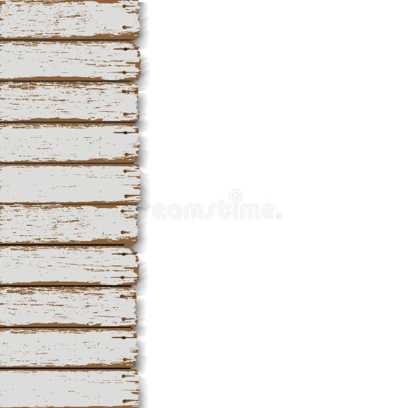 Παλαιά ξύλινη φραγή διανυσματική απεικόνιση