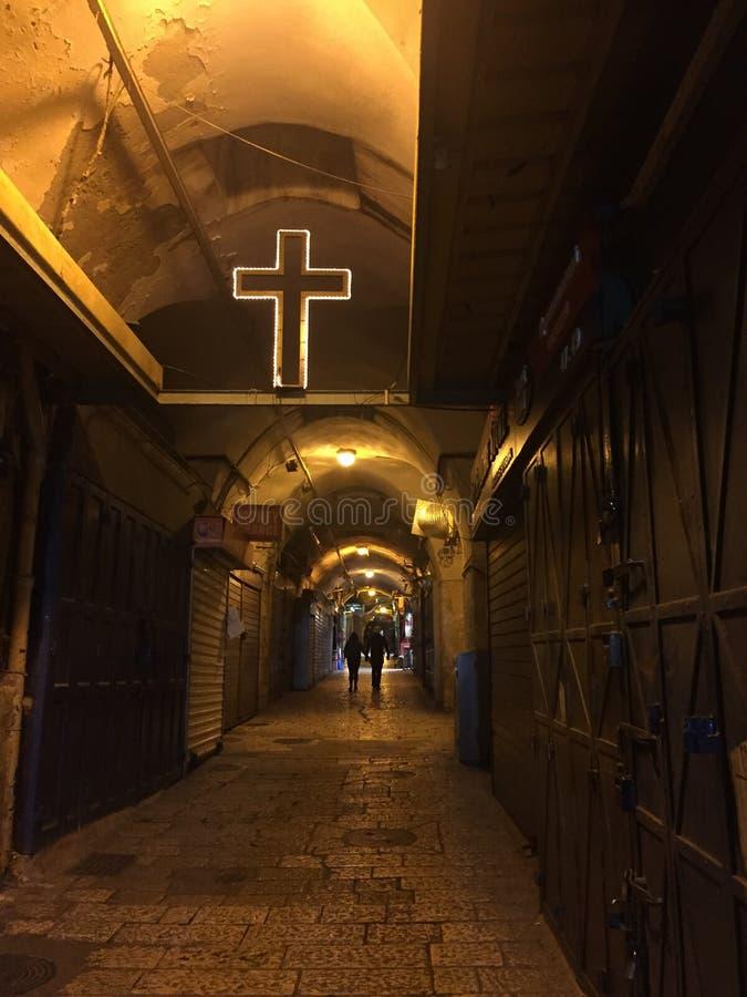 Παλαιά οδός πόλεων της Ιερουσαλήμ στοκ εικόνα με δικαίωμα ελεύθερης χρήσης
