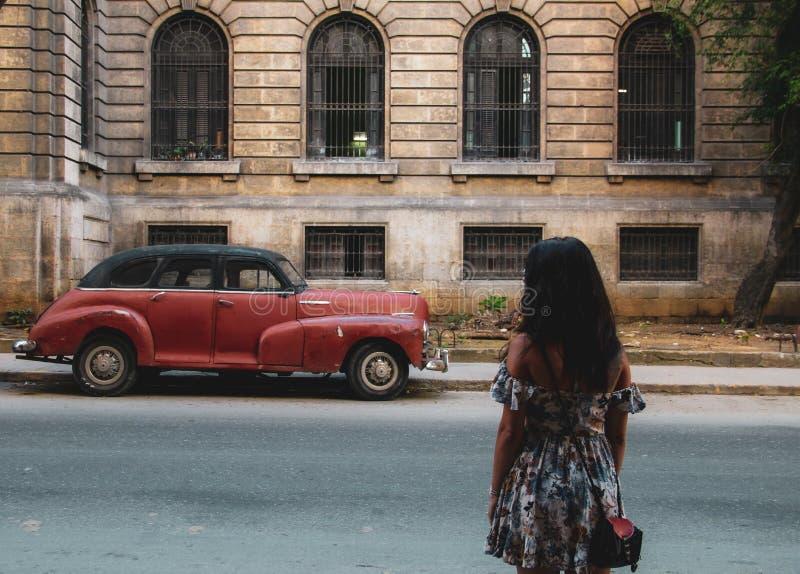 Παλαιά οδός της Αβάνας στην Κούβα, Caribbeans στοκ φωτογραφία
