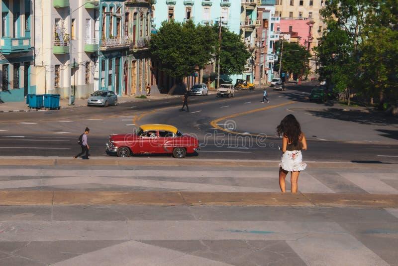 Παλαιά οδός της Αβάνας στην Κούβα, Caribbeans στοκ εικόνα