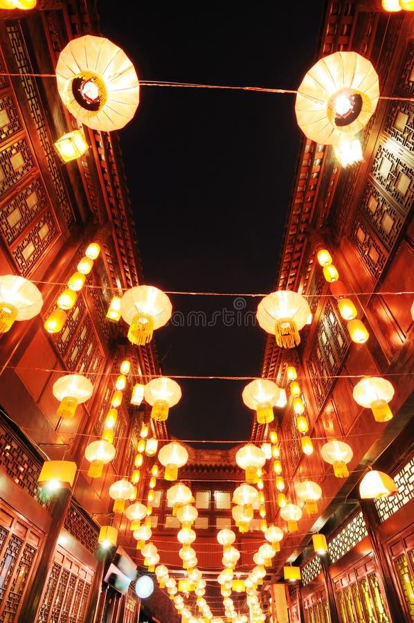 παλαιά οδός φαναριών jinli φεσ&ta στοκ φωτογραφίες