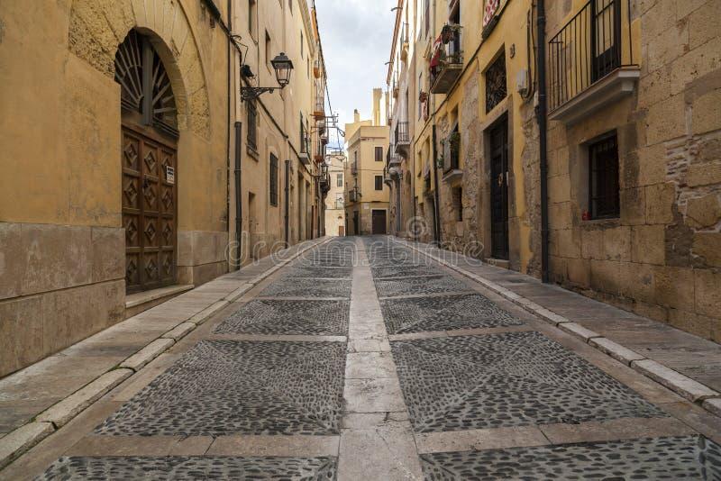 Παλαιά οδός Tarragona, Ισπανία στοκ φωτογραφίες