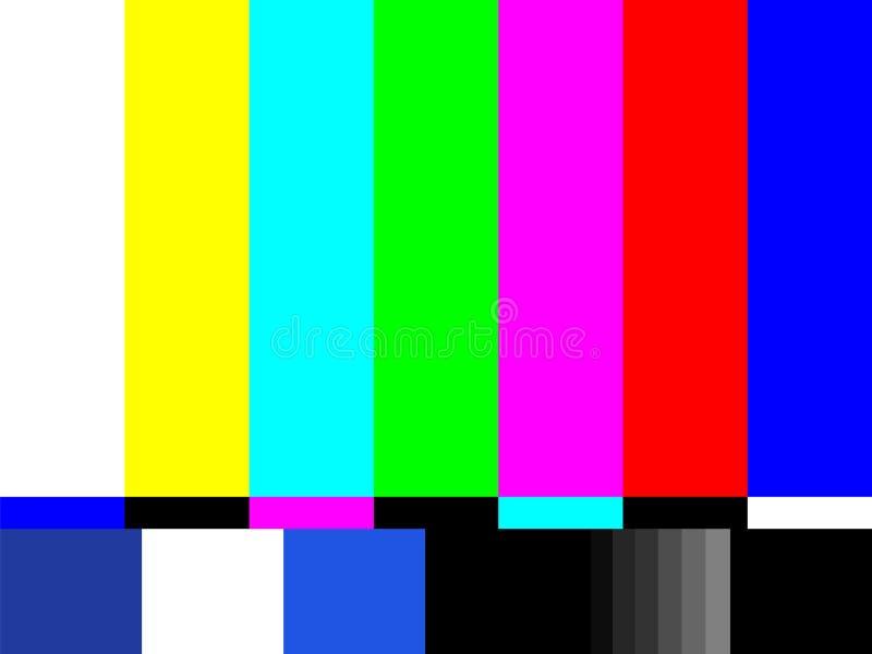 Παλαιά οθόνη δοκιμής TV Αναδρομικός κανένα σήμα καναλιών screensaver ελεύθερη απεικόνιση δικαιώματος
