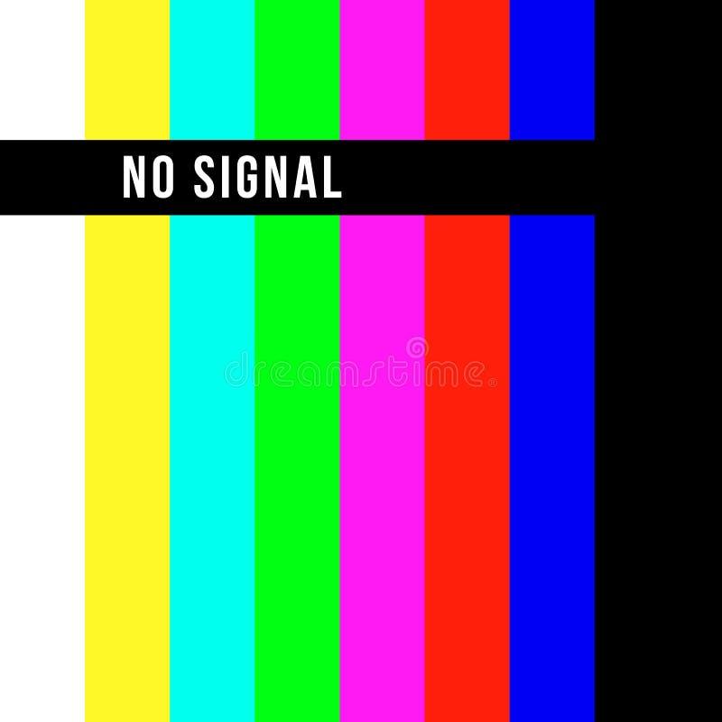 Παλαιά οθόνη δοκιμής TV Αναδρομικός κανένα σήμα καναλιών screensaver απεικόνιση αποθεμάτων