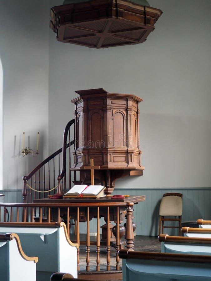Παλαιά ολλανδική εκκλησία στη νυσταλέα κοίλη Νέα Υόρκη στοκ φωτογραφία
