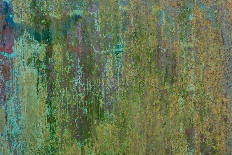 Παλαιά οξυδωμένη πράσινη χρωματισμένη σύσταση υποβάθρου μετάλλων στοκ φωτογραφία με δικαίωμα ελεύθερης χρήσης
