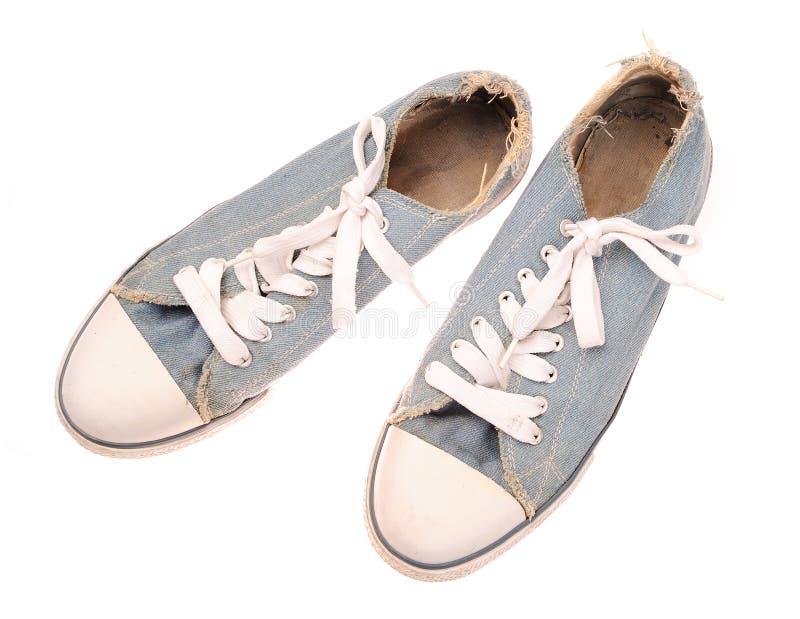 παλαιά πάνινα παπούτσια στοκ εικόνα