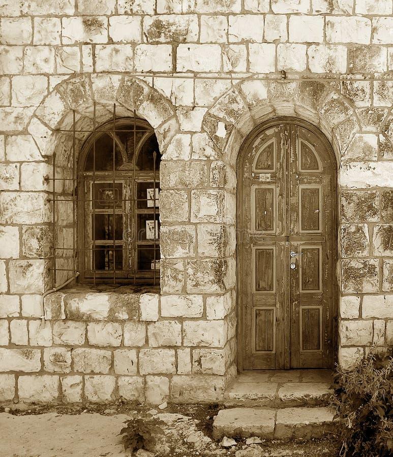 παλαιά πέτρα σπιτιών στοκ εικόνες