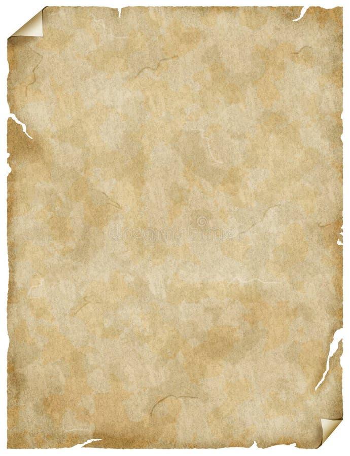 παλαιά περγαμηνή εγγράφο&upsil ελεύθερη απεικόνιση δικαιώματος