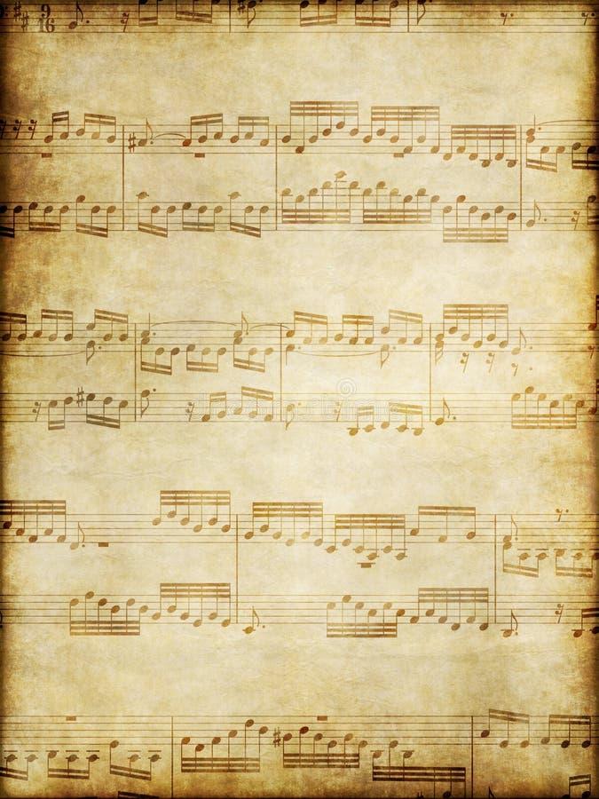 παλαιά περγαμηνή μουσικής διανυσματική απεικόνιση