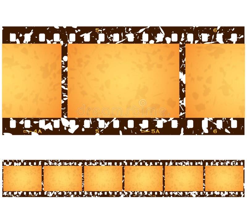 Παλαιά πλαίσια Grunge Filmstrip διανυσματική απεικόνιση