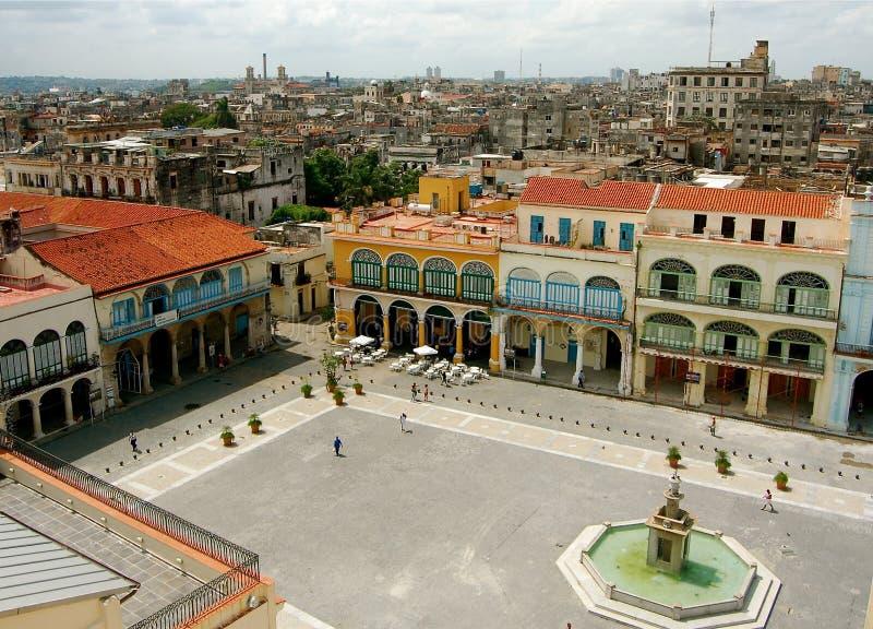 παλαιά πλατεία της Αβάνας στοκ εικόνες