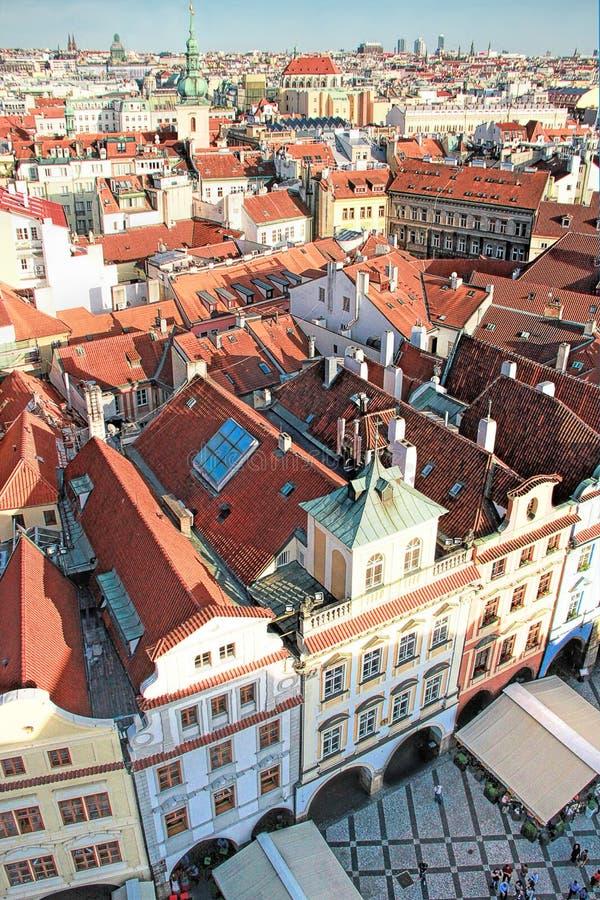 Παλαιά πλατεία της πόλης στην Πράγα, η Δημοκρατία της Τσεχίας στοκ εικόνα