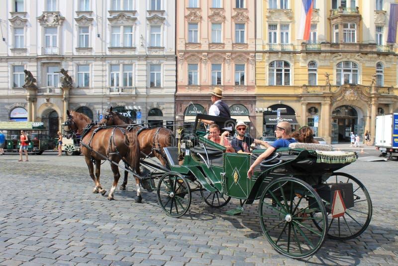 Παλαιά πλατεία της πόλης στη Δημοκρατία της Τσεχίας της Πράγας στοκ φωτογραφίες
