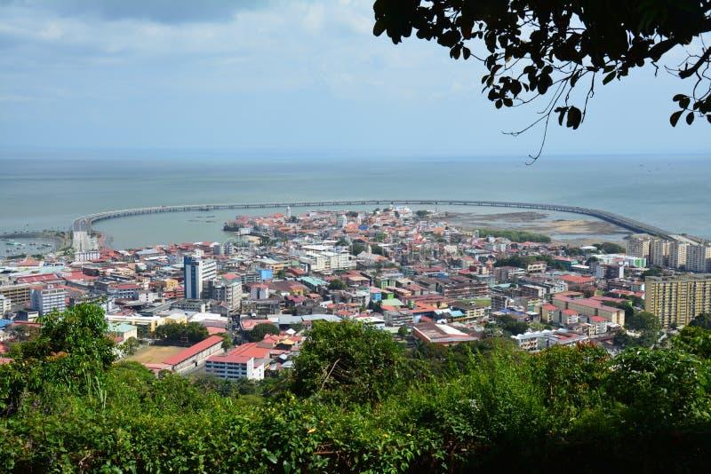 Παλαιά πόλη πόλεων του Παναμά πανοράματος στον Παναμά στοκ εικόνα με δικαίωμα ελεύθερης χρήσης
