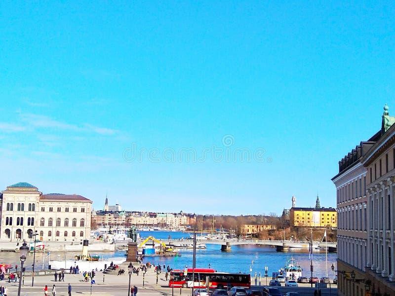 Παλαιά πόλη Στοκχόλμη Sverige Ευρώπη στοκ εικόνες