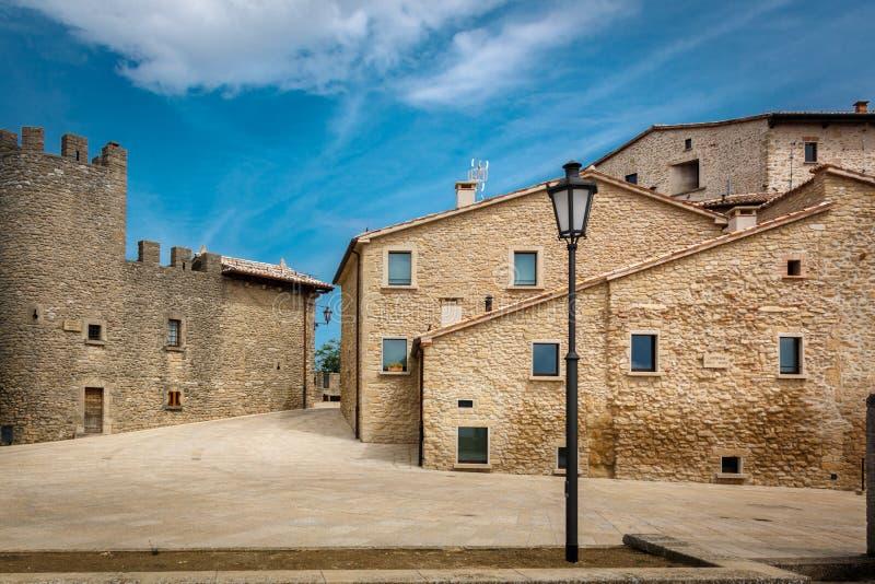 Παλαιά πόλη στον Άγιο Μαρίνο στοκ φωτογραφία