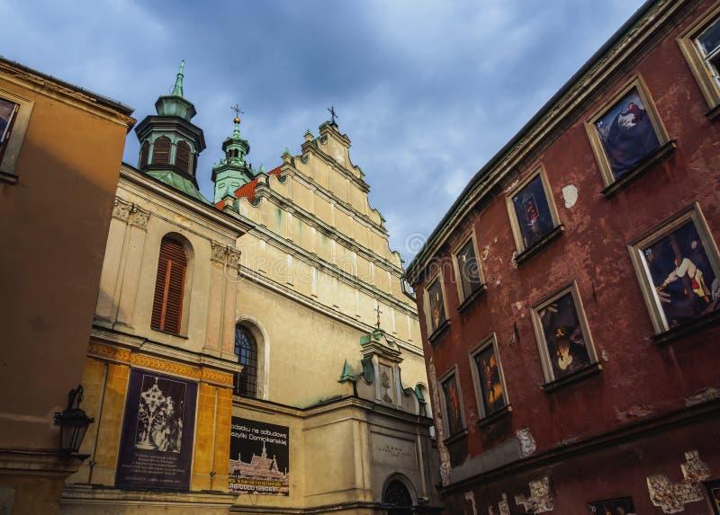 Παλαιά πόλη στο Lublin, Πολωνία στοκ εικόνες
