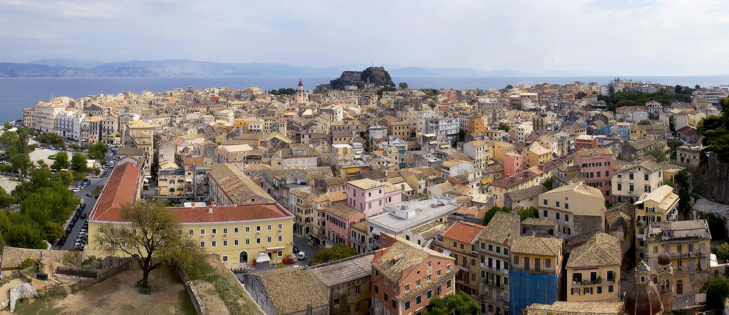 παλαιά πόλη της Κέρκυρας στοκ εικόνες με δικαίωμα ελεύθερης χρήσης
